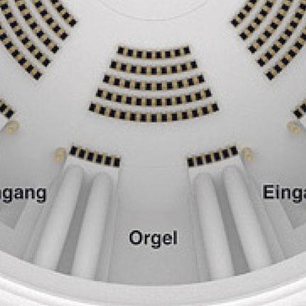Umbauplan Hedwigskathedrale 2017 _Problem: kein Chorplatz