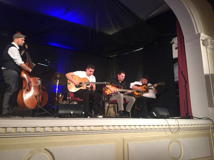 Django Galore, sipller på Nyd Jazz Festival, Sønderborg
