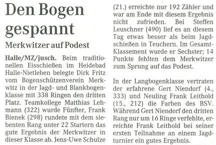 Eisschiessen am 04.01.2003 im Heidebad Halle-Nietleben