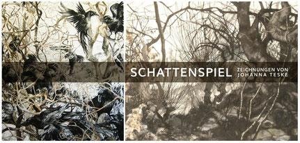 """Einladungspostkarte Ausstellung """"Schattenspiel"""" Johanna Teske"""
