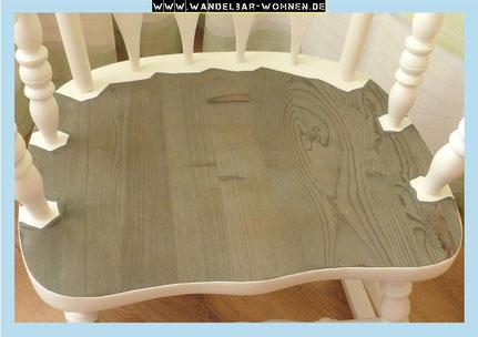 Treibholzeffekt, Verwitterung auf Holz, Möbel altern lassen, Holz verwittern lassen, Möbel ergrauen lassen, Stahlwolle auf Holz, Shabby Chic, Möbelbearbeitung, Selber machen, DIY, Möbel gestalten
