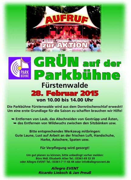 Parkbühne Fürstenwalde Open Air Konzert Musical Theater Kino Festival