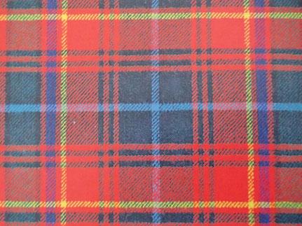 Dérivé simplifié du tartan du clan Royal Stewart