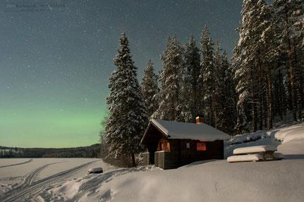 Fotografie Insel im Meer, Swen Burkhardt, Polarlicht in Schweden