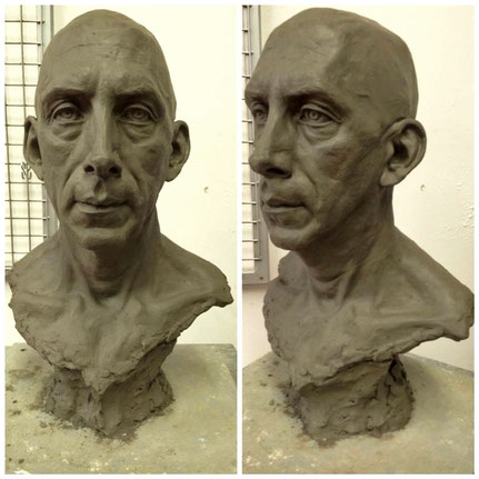 'Alessandro', life-size portrait produced during the workshop