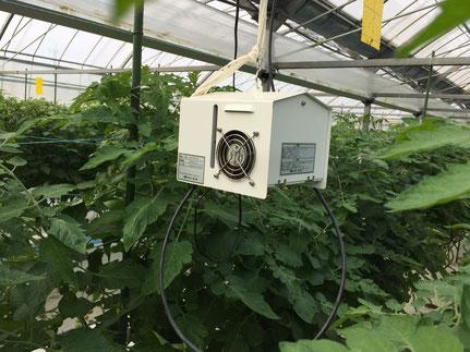 ハウス内の気温・湿度CO2等の計測センサー