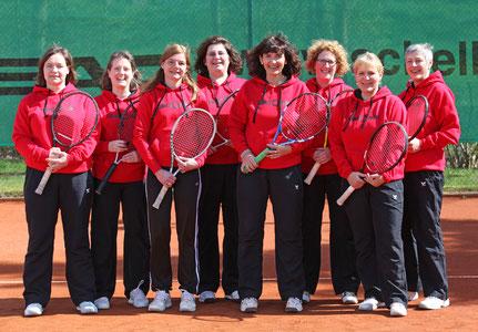 Nicole Will, Melanie Wehner, Heike Wallrab, Cornelia Hack, Sandra Ebert, Daniela Kümmel, Siggi Peuster, Barbar Schlehuber SV Neuhof Tennis