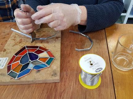 Glas in lood workshop vrouwen vrijgezellenfeest zwolle