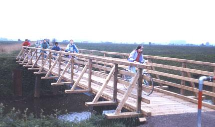 Die Brücke über die Ochtum in den 1990er Jahren