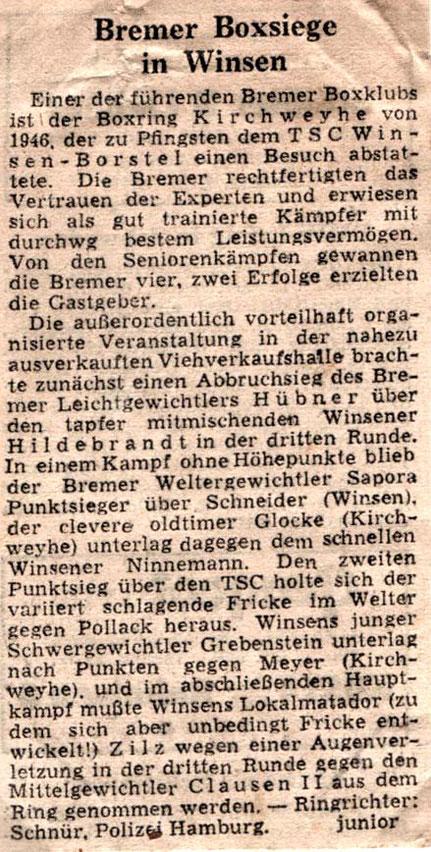 "Der ""Hamburger Sport! meldet"