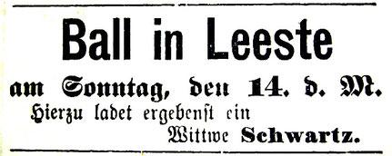 Syker Zeitung 13. 2. 1892