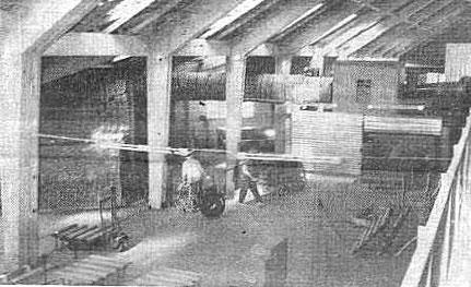 Die neue Ofenhalle von innen (Foto: Allg. Kreisanzeiger Brinkum, 7.10.1967)