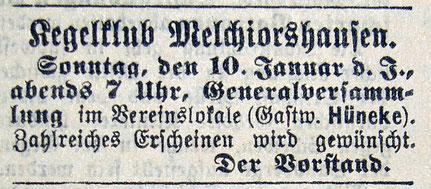 Syker Zeitung 09.01.1904