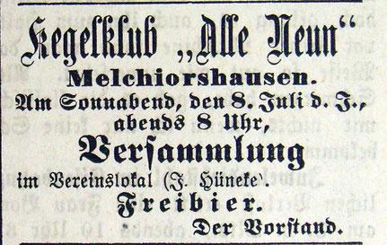 Syker Zeitung 07.07.1905