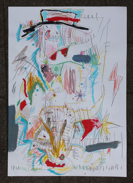 mixed-media on paper 100x70 cm