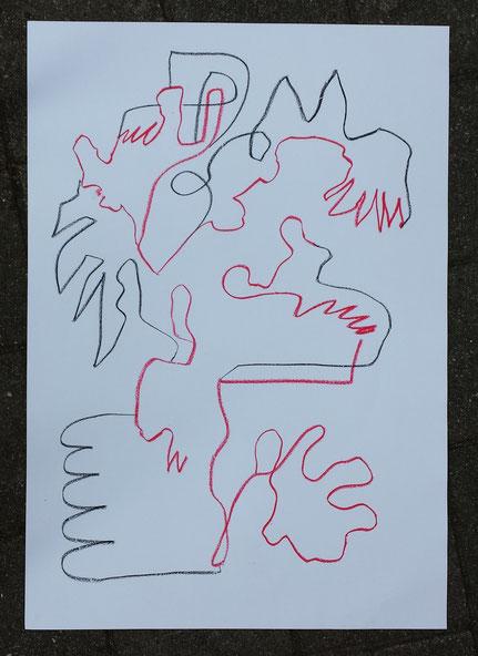 Totem 19 pastel on paper 100x70 cm