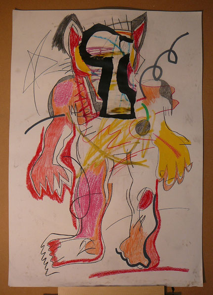 Mixed-media on paper 70 x 100 cm