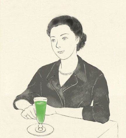 Mineko Takamine loved Soda water of Shiseido Parlour