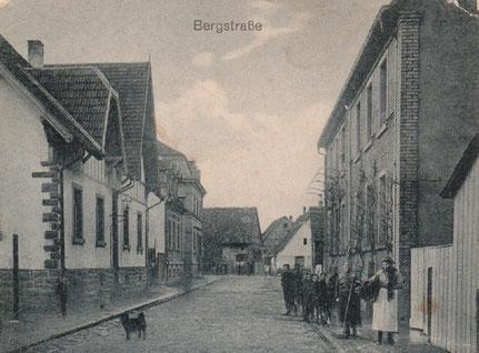 Bergstrasse in den dreisiger Jahren