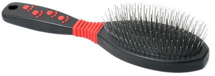 Щётка на резине с металлическими зубьями