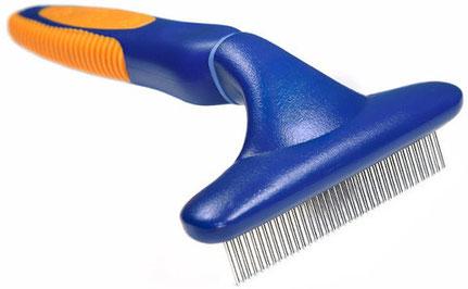 Расчёска-грабли с неподвижными или вращающимися зубьями