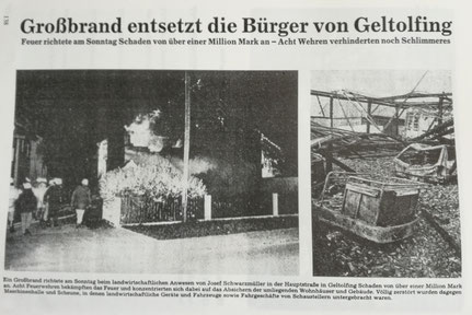 Großbrand 1990 Schwarzmüller-Anwesen