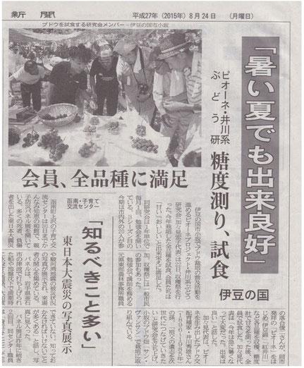 伊豆日日新聞 平成27年8月24日掲載