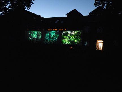 'Herz der Finsternis', Projektion, Künstlerhaus einseins, Hamburg 2012