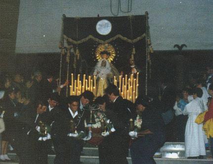 La Esperanza junto a San Juan salieno de San José en los 80