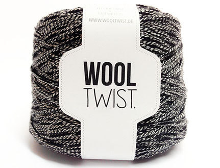 Wooltwist Black Mouline - Wolle mit Mouline Effekt