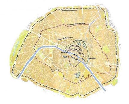 L'enceinte fortifiée de 1840, ou enceinte de Thiers, est la dernière enceinte de Paris. C'est la ligne des fortifs suivie par les coureurs