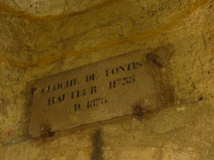 Fontis stabilisé, visible à la sortie de l'ossuaire, dans les Catacombes