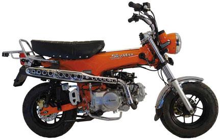 Skymax 125 EFI in Orange & Chrom