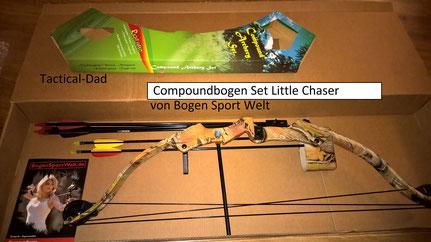"""Das Kinder Compoundbogen Set """"Little Chaser"""" von Bogensportwelt wird an Weihnachten ein Kind glücklich machen :-)"""