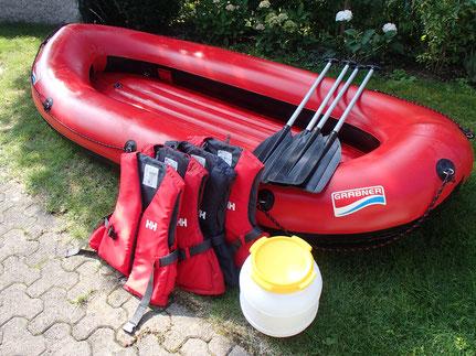Grabner Mini Raft / Schlauchboot / Gummiboot