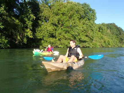 Sit on Top Kayak / Mellingen - Gebenstorf / Reuss / Kajak Kanu Flussfahrt Reussfahrt