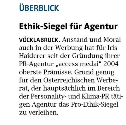 """""""Oberösterreichische Nachrichten"""", 14. April 2021"""