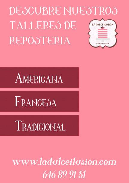 Talleres repostería creativa y tradicional en Cartagena, Murcia. Reposteria americana, reposteria francesa, reposteria tradicional en Cartagena, Murcia, cupcakes, tarta de boda, infantil, adulto, dulce, bizcochos. junior galletas. tarta infantil.