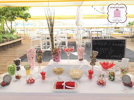 Mesa dulce auditorio y palacio de congresos El Batel. Mesa dulce cumpleaños, candy bar. La dulce ilusión cartagena, murcia