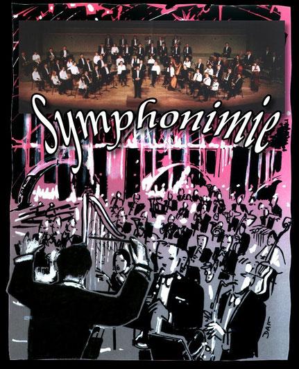 Symphonimie - Spectacle Pyrosymphonique - Orchestre Philharmonique de Nantes (78 musiciens), Feu d'Artifice et Allégorie (Lettres de Feu), été 1999 à Sainte Enimie (Gorges du Tarn) Plus de 5000 Personnes