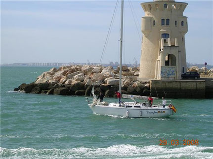 Canopus saliendo de Puerto Sherry