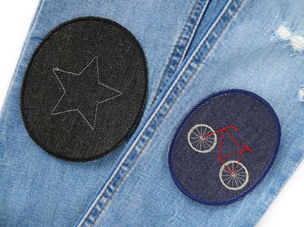Bild: Set Sparpreis Knieflicken Hosenflicken Jeans Jeansflicken für Kinder