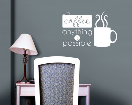 Retro style design with coffee anything is possible that would be perfect for you kitchen or in a café.