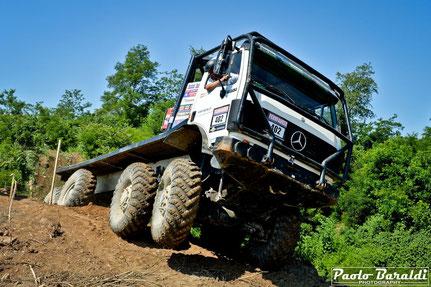Truck Trial Team Reicher (A) Rudi Jun Reiche - Rudolf Reicher. MERCEDES SK 3553. Vincitori cat. 4 assi