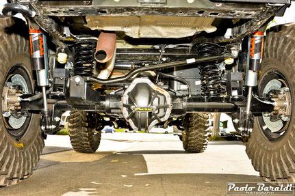 """Il ponte posteriore Dynatrac ProRock80 Full Float, 72.5"""" Wide con semiassi JE Reel 1410 Series"""