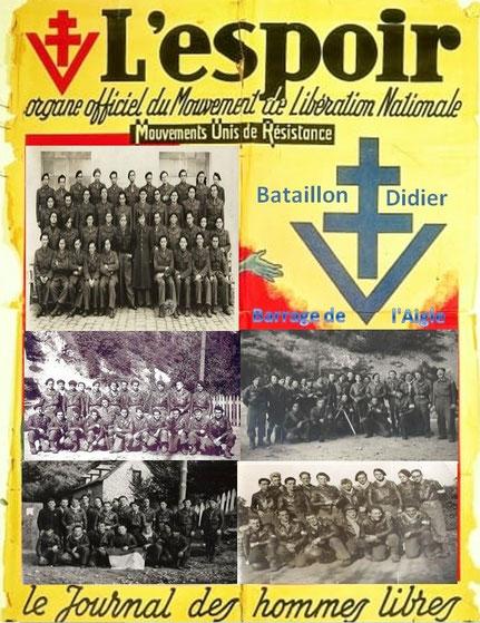 Quelques Compagnies du Bataillon  DIDIER barrage de l'Aigle