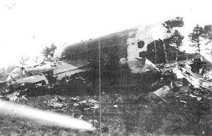 Le planeur CN-295 tombé près du calvaire de Grangues