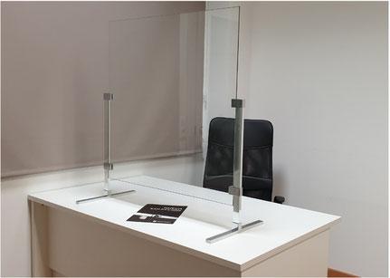 Mampara de protección de cristal regulable 2 COVID 19