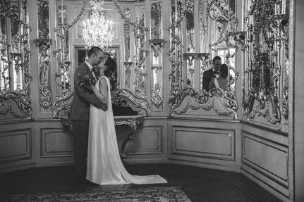 modernes Weddingsdress aus Seide - nachhaltige Traum-Hochzeit