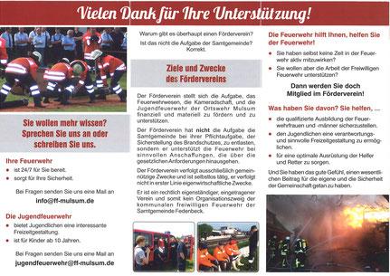Flyer Förderverein FF Mulsum